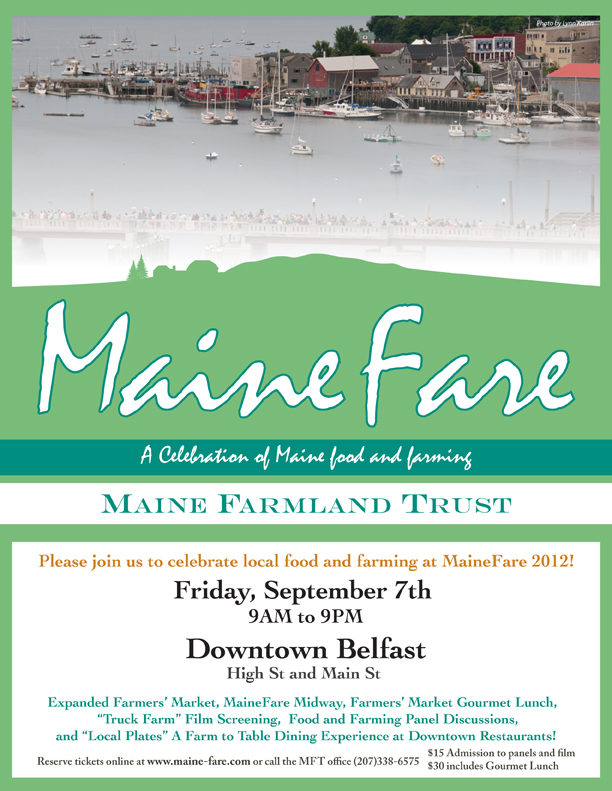MaineFare – Coming To Belfast, Friday, September 7