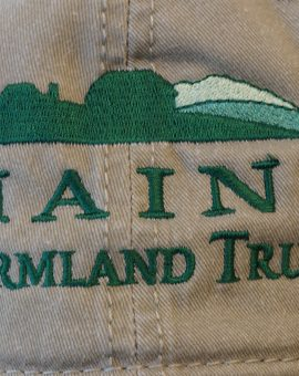 Maine Farmland Trust Logo Hat Closeup