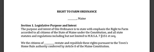 Municipal Action: Local Policies and Ordinances - MAINE