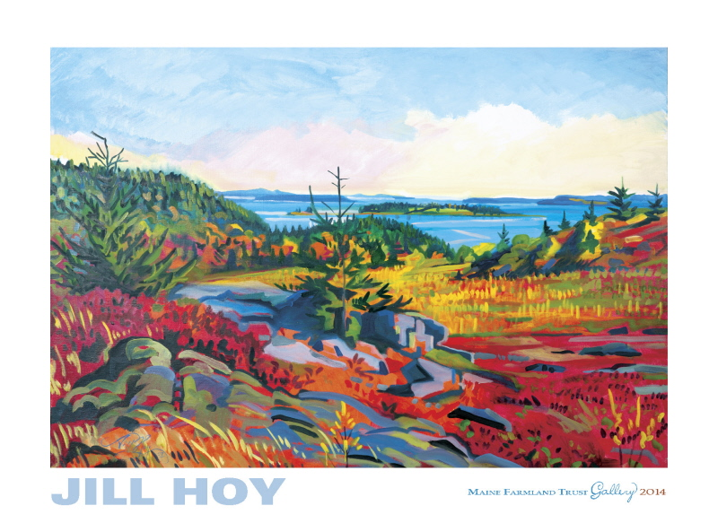 Jill Hoy Paints The Land Alive – May 2-June 9 At Maine Farmland Trust Gallery