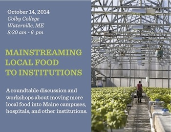 Mainstreaming: Local Food To Institutions