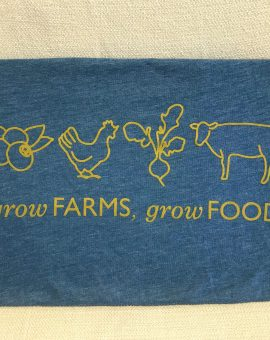 Grow FARMS, Grow FOOD Blue Crewneck Tee