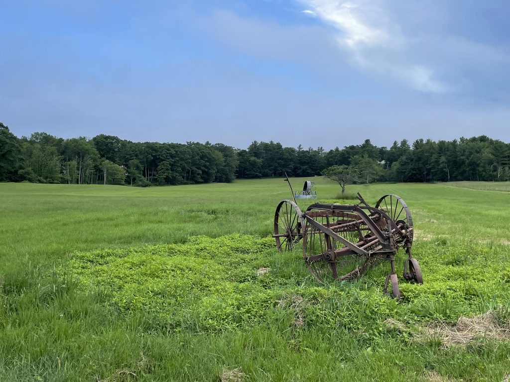 Old farm equipment on Blaisdell Brothers Family Farm.